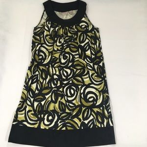 Kim Rogers abstract floral midi dress size 6p